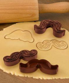 Love this Munchstaches Cookie Mold - Set of Five on #zulily! #zulilyfinds