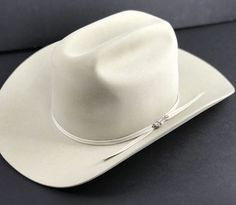 f38621aa57c1e 4X Beaver Stetson Cowboy Hat Size 7 3.5 Brim Ivory Good Guy Hat Americana