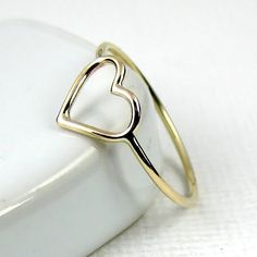 Hey, I found this really awesome Etsy listing at https://www.etsy.com/listing/182220385/solid-gold-heart-ring-9-karat-gold-ring
