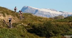 """""""The Great Raid"""" : mountain bike race held annually since 1990 at the end of August between Verbier and Grimentz, in Canton of Valais (Switzerland)."""