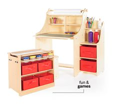 Guidecraft Art Table Chair Set Red G98049 *** Click on the image for ...