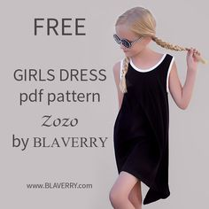 FREE diy print from home knit sewing pdf pattern trapeze tank dress