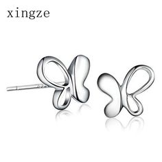 Find More Stud Earrings Information about High quality silver plated jewelry personalized fashion butterfly silver plated stud earrings for women fine jewelry wholesale,High Quality earrings fine jewelry,China earring jewelry box Suppliers, Cheap earring findings sterling silver from Xingze Jewelry store on Aliexpress.com