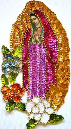 Guadalupe sequin patches