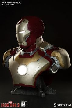 """ Straight out of Tony Stark's hall of armor, Sideshow Collectibles and Legacy Effects are proud to present the Iron Man Mark 42 Life"