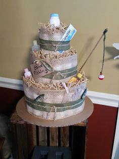 Baby shower themes for boys fishing diaper cakes 43 ideas Baby Shower Party Supplies, Boy Baby Shower Themes, Baby Shower Parties, Baby Boy Shower, Baby Shower Gifts, Baby Shower Diapers, Baby Shower Cakes, Diaper Shower, Lakes