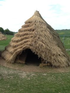 Recreated Neolithic House, by English Heritage