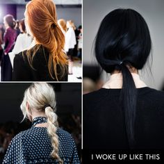 - Bedhead to the max: Romantic tendrils, fuzzy braids and yesterday's ponytails made a statement on the runways this season.Charles Youssef, Rebecca Minkoff, Public School