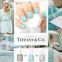 These nail design kits look awesome!  Tiffany & Co. Inspired nails. I am trying this immediately.