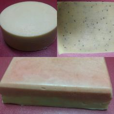 Amy Laine's Goat Milk Soap Lavender Rosemary Facemilk-left Lemongrass Poppy Seed Scrubbing Bar - right,  and Red Clover Tea on the bottom.  Go to : www.amylaines.com or e-mail : amylaines@gmail.com to order