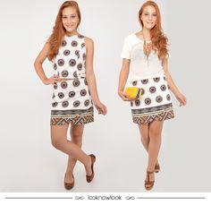 Uma saia, dois looks! Usada em conjunto com top cropped, sapatilha e body chain ou com uma blusa lisa, salto e clutch. #moda #look #outfit #ootd #dica #ideias #shop #comprasonline #loja #lnl #looknowlook