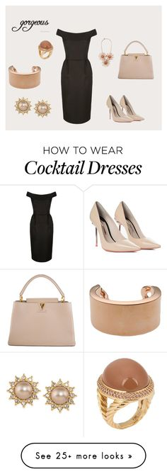 """Untitled #2"" by zehra-c on Polyvore featuring Sophia Webster, Louis Vuitton, Carolee, David Yurman, Maison Margiela and Ted Baker"