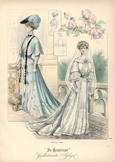 """Published in Dutch magazine """"De Gracieuse"""" vintage fashion plate"""