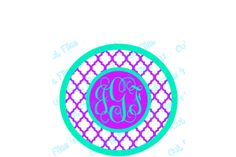 Quatrefoil Monogram template Features: Fully adjustable size Easy layering application even for beginners Layering markers includedfor great alignment every time Overlap forgiveness so design is perfect every time Outlines around each layer of the design have already been added for easy weeding and to save material You can CUSTOMIZEthe colors, take out the center, use only the circles, or any number of fun