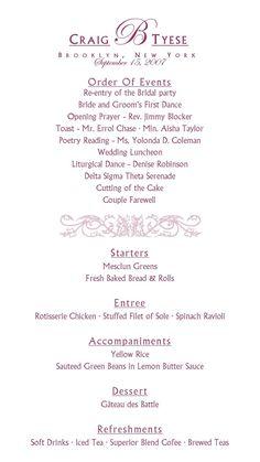 reception program with decorations   I had my dream wedding ...