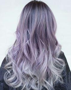 Purple hair❤ by @Sirine@ | We Heart It