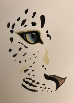 Watercolour painting of leopard - Leopard Big Cats Art, Cat Art, Art Drawings Sketches, Animal Drawings, Snow Leopard Drawing, Animal Stencil, Tiger Art, Painting & Drawing, Watercolor Paintings