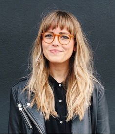 Blond Pony, Bangs And Glasses, Glasses Style, Glasses For Long Faces, Short Hair Glasses, Long Hair With Bangs, Fringes For Long Hair, Long Hair Fringe, Edgy Long Hair
