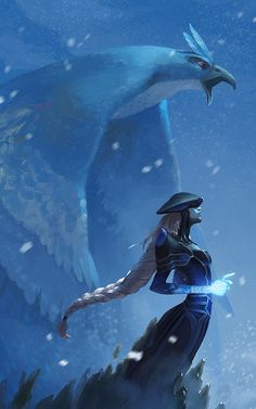 """chrishohl: """" Gotta Gank 'em All: Part 7 - Lissandra, the Ice Witch and Articuno, the Freeze Pokemon. Just in time for Juno! Stay safe, north easterners! I really liked making this one, there were a lot of interesting textures in play. Took some..."""