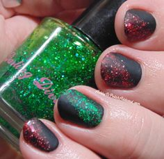 Ashley is PolishAddicted: 40 Great Nail Art Ideas: Glitter or Flake Topper