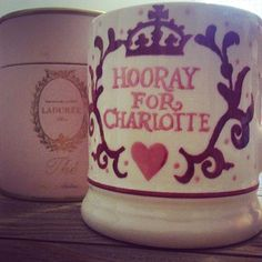I guess today is ideal to start using this most perfect commemorative mug! To HRH Princess Charlotte... hooray !