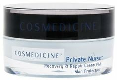 Cosmedicine Private Nurse Recovery and Repair Cream, 0.5-Ounce by Cosmedicine. Save 43 Off!. $19.92. Plumps and fills depressions in the skin.. Reduces temporary redness in the skin.. Measurable results - clinical trials found: 53% reduction in skin dryness, 23% increase in skin elasticity, & 23% reduction in fine lines and wrinkles.. Reduces fine lines and wrinkles and deeply hydrates skin.. Adds suppleness and volume overnight.. Cosmedicine™ Private Nurse™ Recovery & Rep...