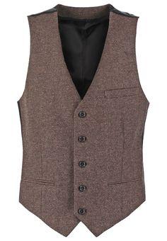 Vintage style mens vest. New Look Waistcoat brown £25.00 AT vintagedancer.com