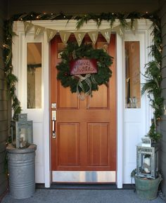 {pineplace}: Christmas Porch pennant