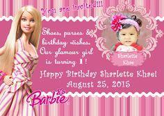 barbie invitation template - Google Search