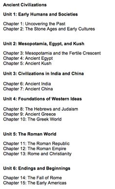 history course on world civilizations World history course overview  world history continues the process of developing in students an understanding  world history unit 1: ancient civilizations i.