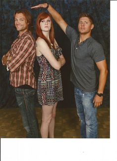 "sammywinchester: ""Told you I was 6'3""!"" (Poor Jensen, ahahahah)"
