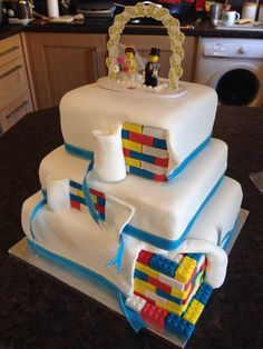 Lego Wedding Cake Three Tiers