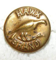 Hawk Brand Vintage Workwear Button