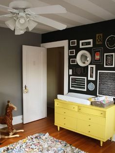 Black walls in a nursery? Yes, and you're going to love it >>