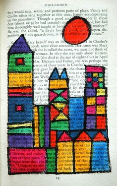 Color theory inspired by Paul Klee - done with sharpies and watercolor on old book pages. (Cool Crafts With Sharpies) Kindergarten Art, Preschool Art, Paul Klee Art, Newspaper Art, 2nd Grade Art, Ecole Art, School Art Projects, Art Lessons Elementary, Art Classroom
