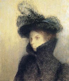 Odilon Redon, French painter and pastelist (1840-1916). 'Portrait of Marie Botkine' (c.1900)