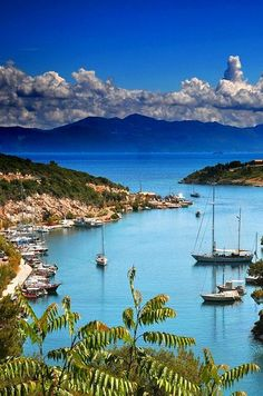 Gaios Harbour, Paxos Island, Greece // Get more travel ideas and inspiration for Greece at http://www.holidaystoeurope.com.au/home/resources/destination-articles/greece