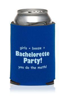 ... Bachelor Koozies & Wholesale Bachelorette Koozies - KZW146 - Personal koozies for wedding drink are a greate wedding favor idea.