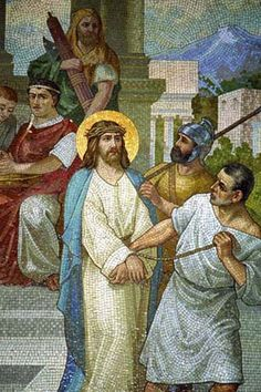 Station One : Jesus is Condemned        The first station is that of Jesus being brought before Pilate and He is condemned to Death. T...