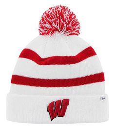84a9c439300 47 Brand Wisconsin Badgers Breakaway Cuff Knit Pom Hat