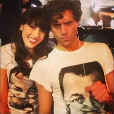 Mika and French singer and songwriter Nolwenn Leroy 2013