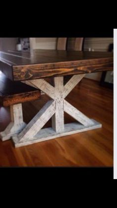 A personal favorite from my Etsy shop https://www.etsy.com/listing/385368094/farm-style-table-farmhouse-table-with