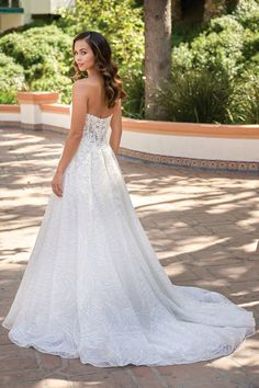 Beautiful Embroidered Lace Strapless Wedding Dress with Sweetheart Neckline Strapless Sweetheart Neckline, Sweetheart Wedding Dress, Bridal Wedding Dresses, Bridesmaid Dresses, Whimsical Wedding Theme, Whimsical Wedding Inspiration, Jasmine Bridal, Event Dresses, Embroidered Lace