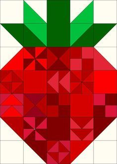 Make-A-List Monday: Bag week Strawberry quilt from Porch Swing Quilts Small Quilts, Mini Quilts, Bright Quilts, Quilting Projects, Quilting Designs, Sewing Projects, Barn Quilt Patterns, Summer Quilts, Patch Aplique