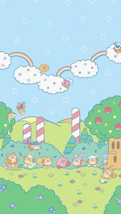"atokyojourney: ""New kirby wallpapers released on Nintendo's line "" Cute Cartoon Wallpapers, Animes Wallpapers, Cute Backgrounds, Wallpaper Backgrounds, Iphone Backgrounds, Iphone Wallpapers, Wallpaper Fofos, Whatsapp Wallpaper, Kawaii Wallpaper"