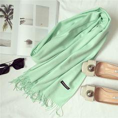 2017 brand women scarf fashion soild autumn winter cashmere scarves lady warmer pashmina long shawl wraps bandana foulard female  Price: 7.15 USD
