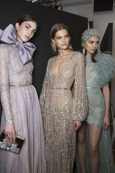 Elie Saab Spring 2018 Couture Fashion Show Backstage - The Impression Couture Fashion, Runway Fashion, Fashion Show, Fashion Art, Chanel Fashion, Party Fashion, Trendy Fashion, Fashion Women, Fashion Ideas
