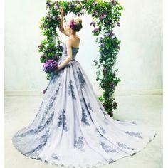 NOVARESE(ノバレーゼ)●ノバレーゼグループ:【艶アンティーク×総レース】ラベンダーカラーで大人花嫁へ