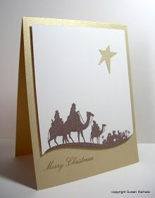 Simplicity: Shimmery Gold Cardstock and a Swoop