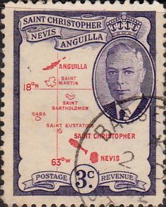 1952 St Christopher Nevis Anguilla King George VI SG 96 Fine Used SG 96 Scott 109 Other Old Stamps for sale here